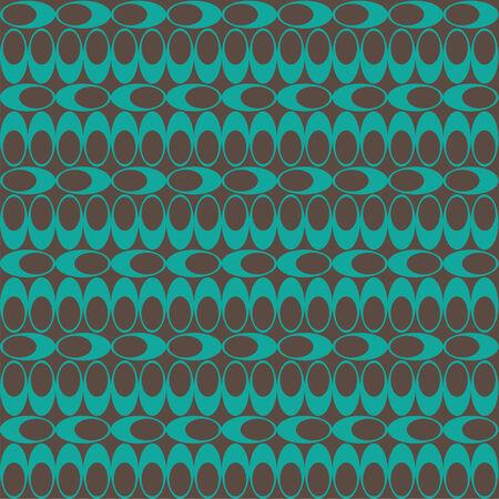 Seamless Geometric Bean Pattern 02 Ilustração