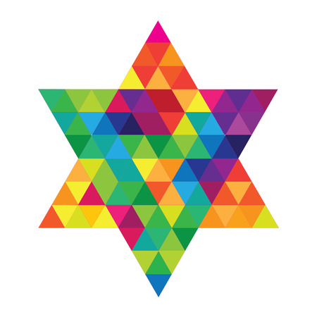 jewish star: Magen David pattern on white
