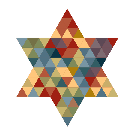 simchat torah: Magen David pattern on white
