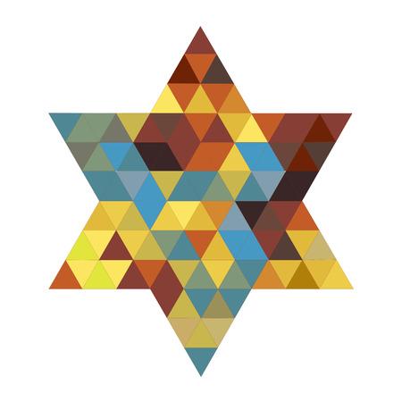 hexagram: Magen David pattern on white