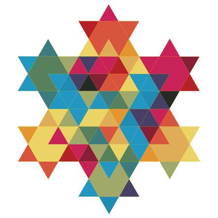 hexagram: Magen David Fractal 02 Illustration