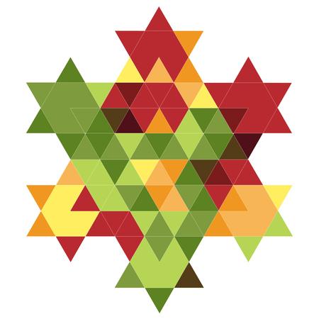 hexagram: Magen David Fractal 07 Illustration