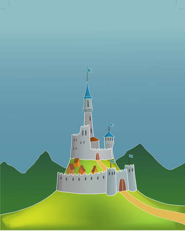 Fairytale castle Stock Vector - 17775507