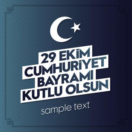 29 october Republic Day Turkey, wishes card design.