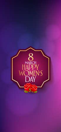 8 March. International Happy Women's Day Celebration. Billboard, Poster, Social Media, Greeting Card template.