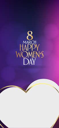 8 mars. Célébration de la Journée internationale de la femme heureuse. Panneau d'affichage, affiche, médias sociaux, modèle de carte de voeux.