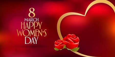 8 March. International Happy Women's Day Celebration. Billboard, Poster, Social Media, Greeting Card template. Vetores