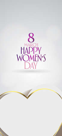 8 March. International Happy Women's Day Celebration. Billboard, Poster, Social Media, Greeting Card template.