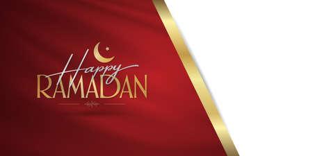 Happy Ramadan. Holy month of muslim community. Billboard, Poster, Social Media, Greeting Card template. Ilustrace