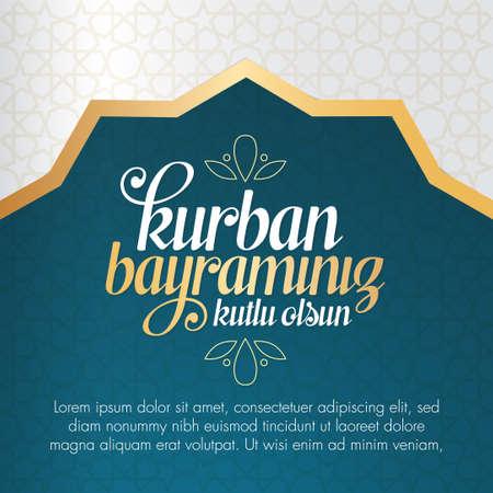 Fest des Opfergrußes (Eid al-Adha Mubarak) Heilige Tage der muslimischen Gemeinschaft. Billboard, Poster, Social Media, Grußkartenvorlage.