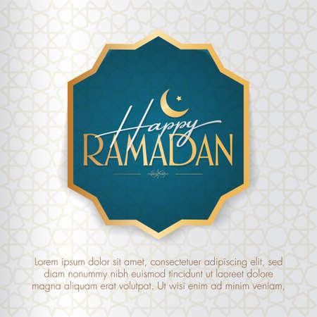 Happy Ramadan. Holy month of muslim community. Billboard, Poster, Social Media, Greeting Card template. Ilustração