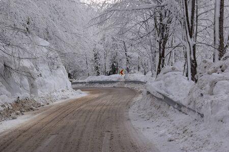 sneeuwlandschap zal
