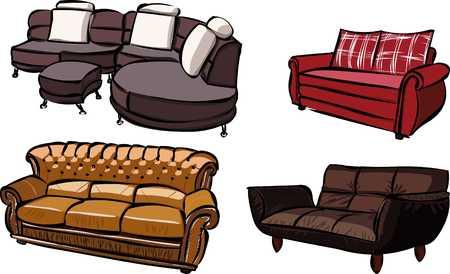 divan: sofas Illustration