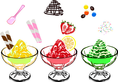 loads: Shaved Ice with loads of toppings.