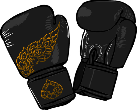 scores: Boxing gloves with thai pattern