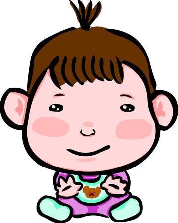 innocent girl: Cute little kids in a good mood