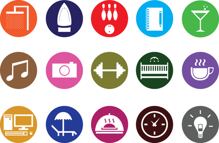Icon or sticker for use in businesses. Vector