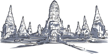 shire: Thai Temple Illustration