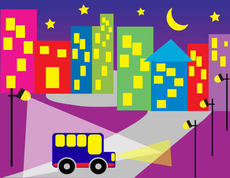 sleeping car: City at night