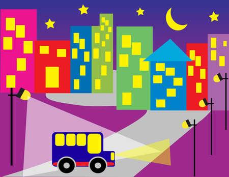 City at night Stock Vector - 5380978