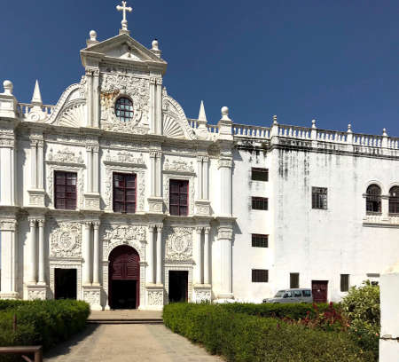 Diu, Gujarat/India - April 1, 2018 : St. Paul's Church Diu Editorial