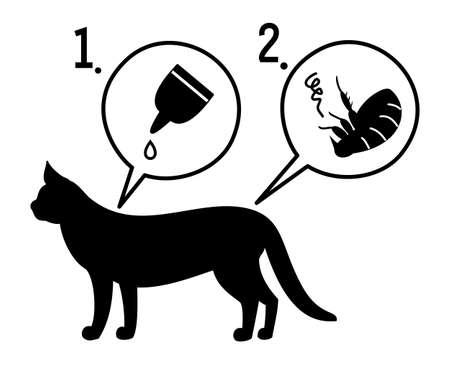 fleas: extermination of fleas Illustration
