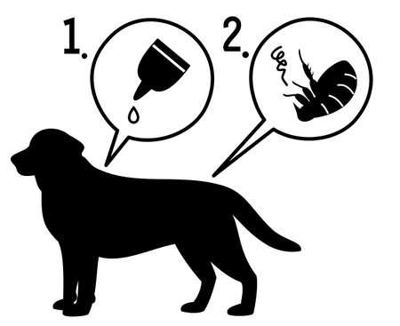 extermination: extermination of fleas Illustration