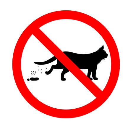 excrement: gatto, proibito, escrementi Vettoriali