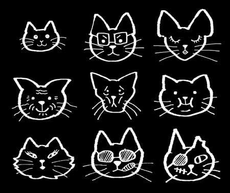 cat eye: cat s faces cartoon