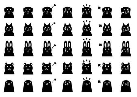 pets faces Vector