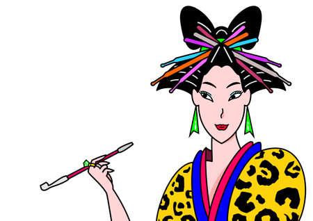modern geisha Illustration