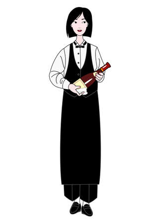 sommelier: mujer sommelier Vectores