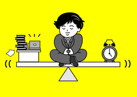 work time balance Vector
