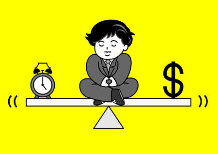 time money balance Vector