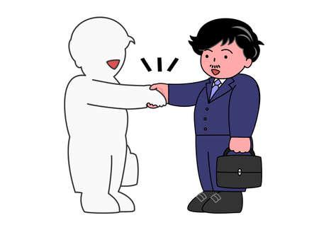 depend: shake hands