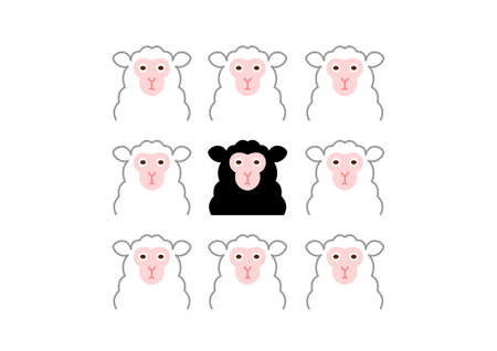 exception: black sheep and white sheep