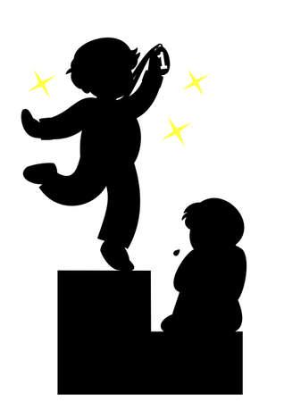 superiority: winner and loser Illustration