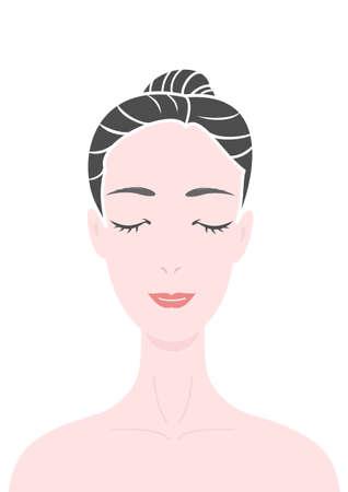 Mujer cara, los ojos cerrados Foto de archivo - 28065730
