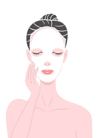 beauty mask: putting pack Illustration