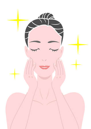 rejuvenated: skin beauty Illustration