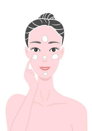 sunscreen: putting creams Illustration