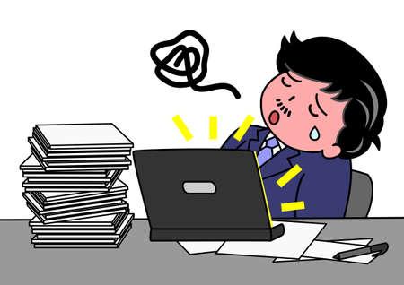 sentarse: cansado de trabajar