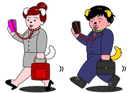 accident woman: adicto al tel�fono m�vil
