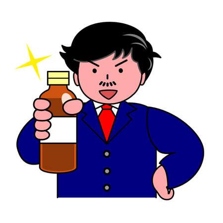 nutritional: men recommending nutritional drink