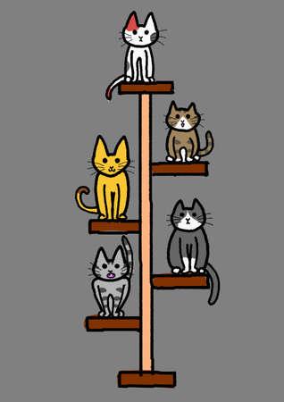 calico: cat tower