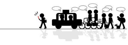 dissatisfaction: traffic jam Illustration