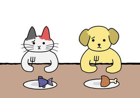 dissatisfaction: Cute animal diet