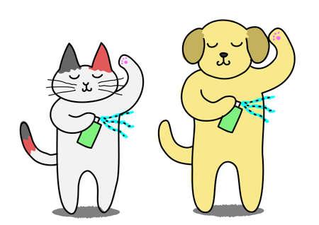 Cute animal spray deodorant  Illustration
