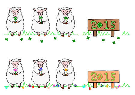 year of sheep Vector