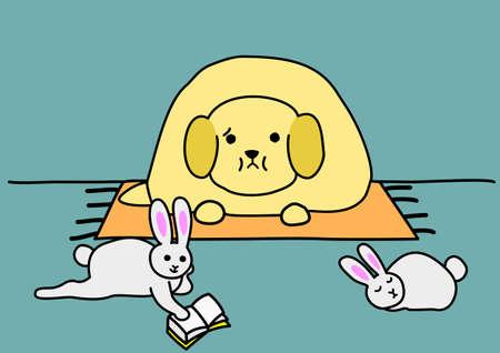 unhealthiness: pet obesity Illustration